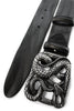 Black vintage feel belt with snake buckle