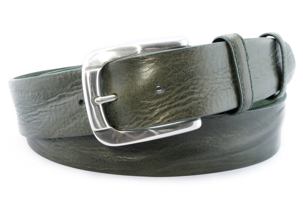 Bottle green vintage feel belt