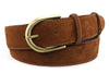 Tan English suede contrast stitch  belt