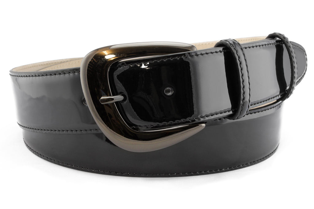 Classic Black patent leather belt