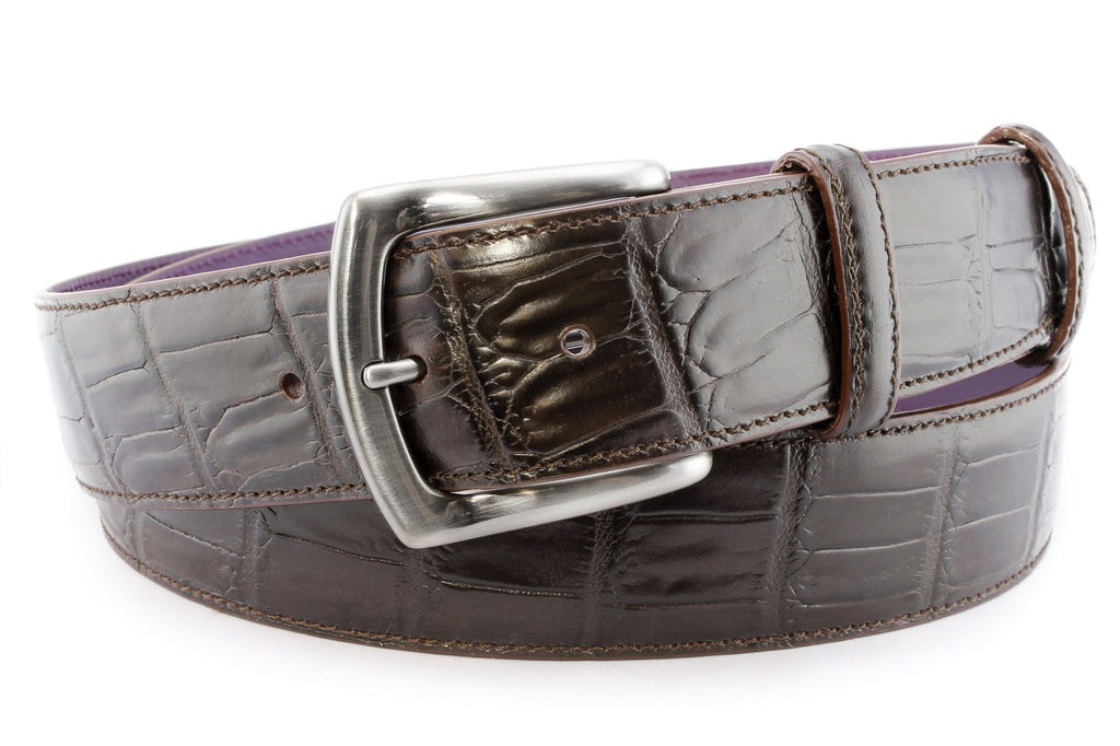 Dark Brown Casual Leather Belt For Men And Women