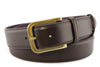 Classic dark brown Napa belt