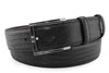 Black teyus lizard effect contemporary belt