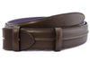 Dark choc burnished ridge detail belt strap