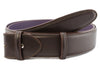 Classic dark brown box calf belt strap