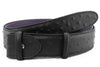 Black matt mock ostrich quill belt strap