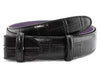 Black Mock croc tail belt strap - Longer Length