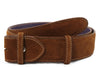 Tan English suede belt strap