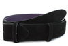 Black suede belt strap