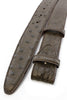 Dark choc genuine ostrich quill belt strap