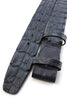 Midnight blue genuine crocodile back belt strap