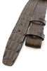 Dark brown genuine crocodile back belt strap