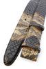 Caramel choc chip genuine python belt strap