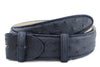 Navy blue genuine ostrich quill belt strap