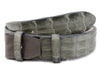 Pale anthracite genuine crocodile back belt strap