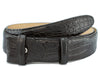 Black classic genuine crocodile belt strap