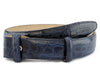 Navy blue genuine crocodile belt strap
