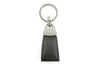 Dove Grey with Fuchsia mock iguana Triangle keychain