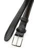 Narrow Black Genuine Crocodile Flank Belt