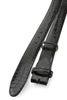 Narrow Black Genuine Crocodile Flank Belt Strap