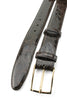 Dark Brown Genuine Crocodile Flank Belt