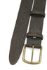 Classic Tumbled Dark Brown Aged Brass Buckle Belt