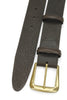 Classic Tumbled Dark Brown Chunky Brass Buckle Belt