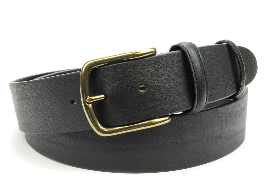 Classic Black Aged Brass Finish Prong Belt