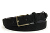 Narrow Black Suede Belt