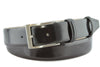 Black mid shine leather belt