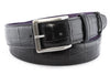 Black Mock croc tail belt