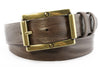 Rich brown vintage feel screw buckle men's belt