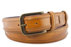 Golden Ochre wing tip cordovan belt
