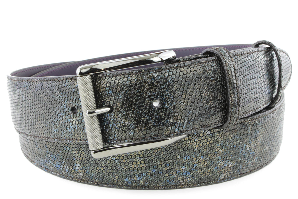Mottled Turq Metallic Honeycomb Roller Belt