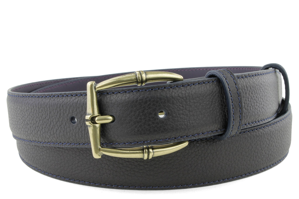 Narrow Deep Navy Novak Bamboo Belt