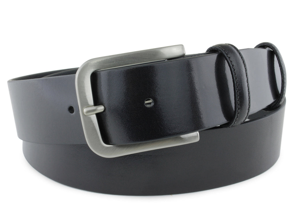 Smooth Supple Unlined Black Belt