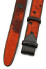 Burnt Orange Burn Out Pony Hair Roller Belt Strap