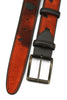 Burnt Orange Burn Out Pony Hair Roller Belt