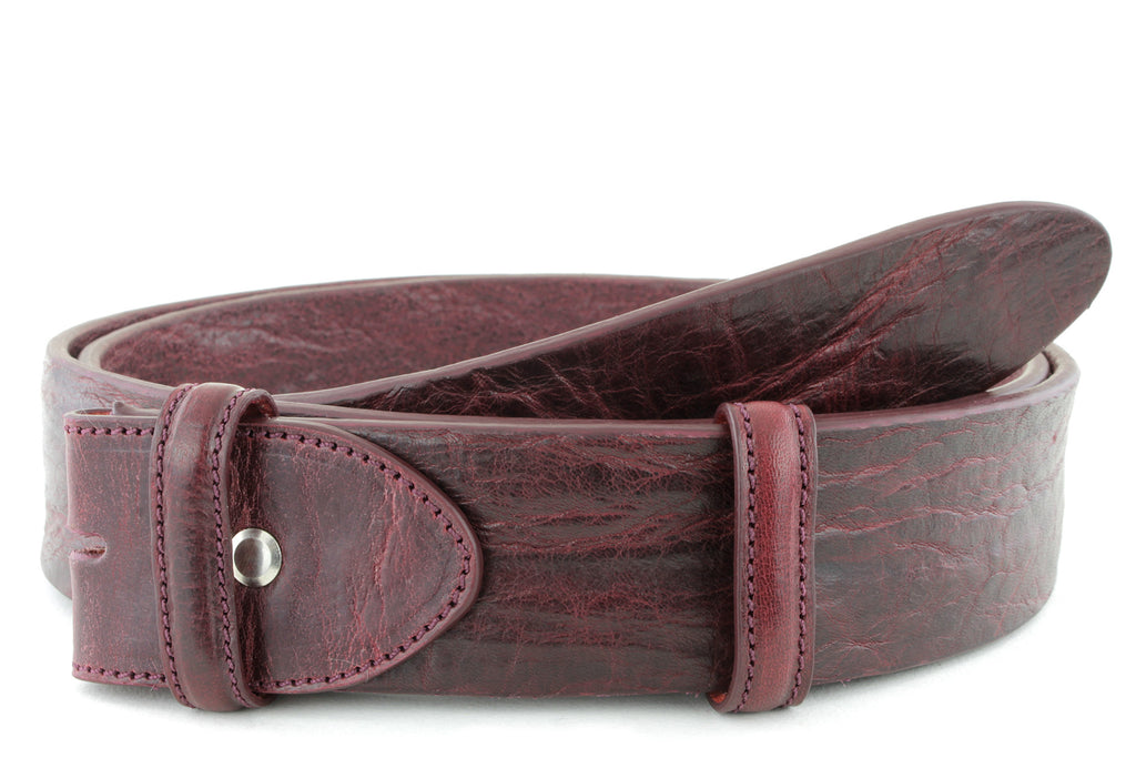 Burgundy vintage feel belt strap