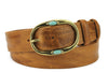 Golden Syrup Vintage Feel Turquoise Prong Belt