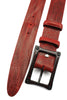 Vintage Feel Poppy Red Carbon Fibre Screw Belt