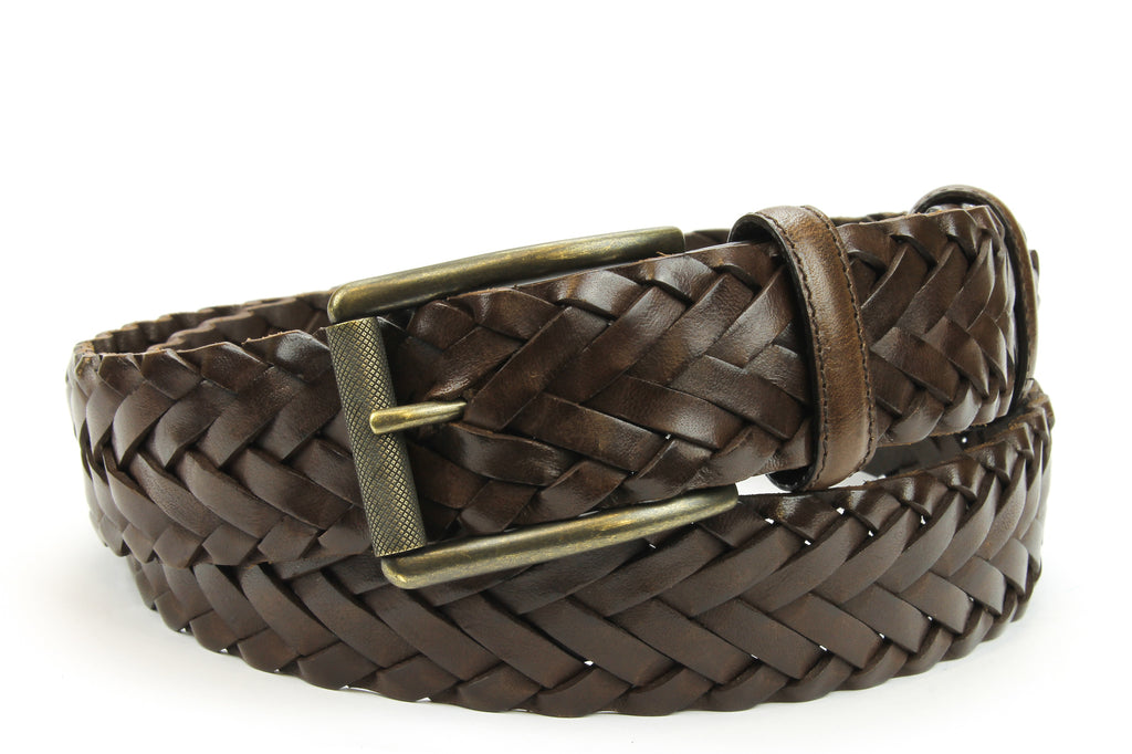 Classic Dark Brown Handweave Roller Belt