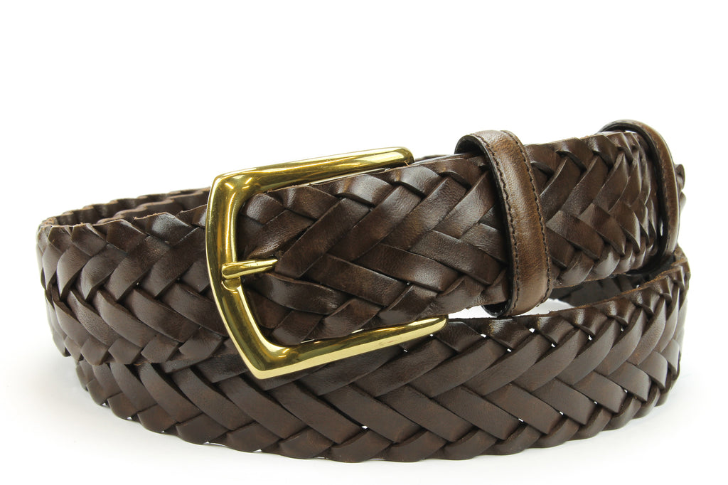 Classic Dark Brown Handweave Belt