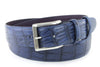 Navy Mock Croc Tail Etched Roller Belt - Longer Length