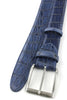 Navy Mock Croc Tail Etched Roller Belt