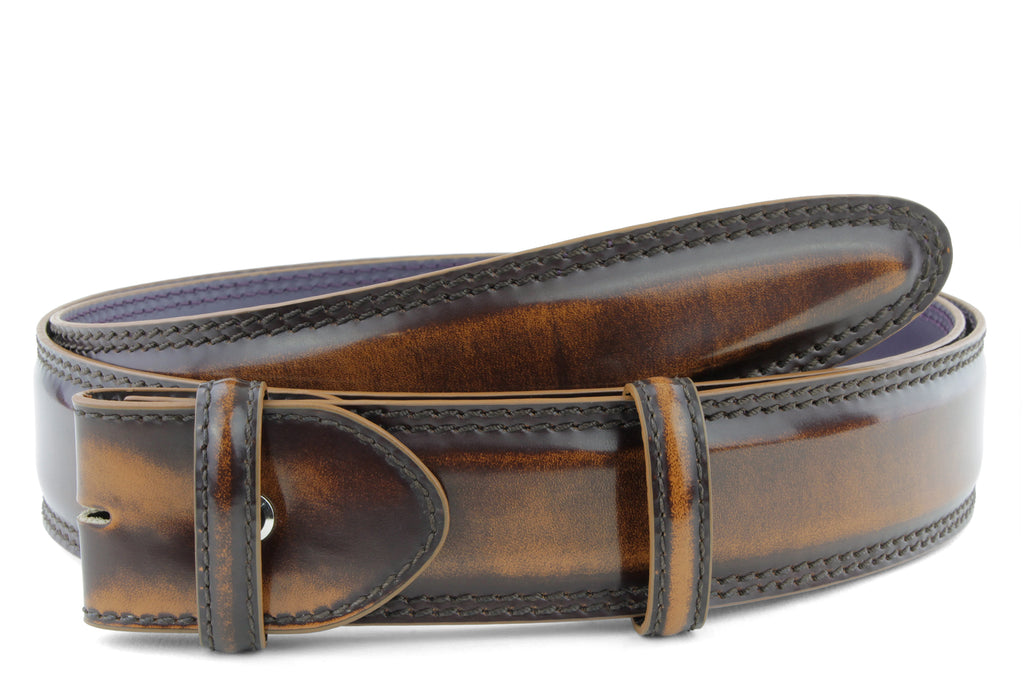 Bogart Welt Cognac Hand Burnished Belt Strap