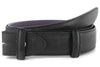 Black mock lizard effect belt strap