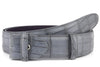 Steel grey mock croc tail belt strap - Longer Length