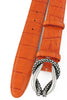 Zinnia orange mock croc tail reef knot belt