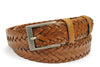 Classic Tan Handweave Dimple Belt